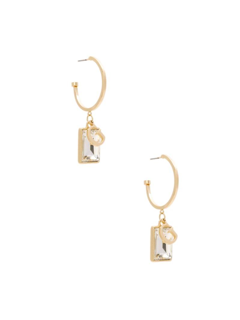 Gold-Tone Baguette Charm Earrings