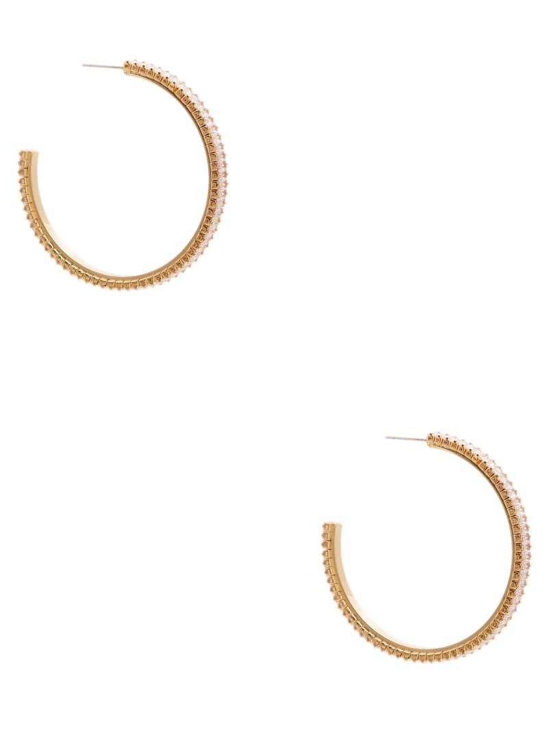 Sleek Baguette Hoop Earrings