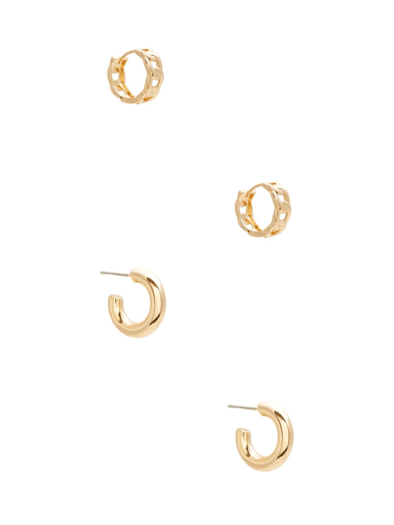 Gold-Tone Mini Hoop Earrings Set