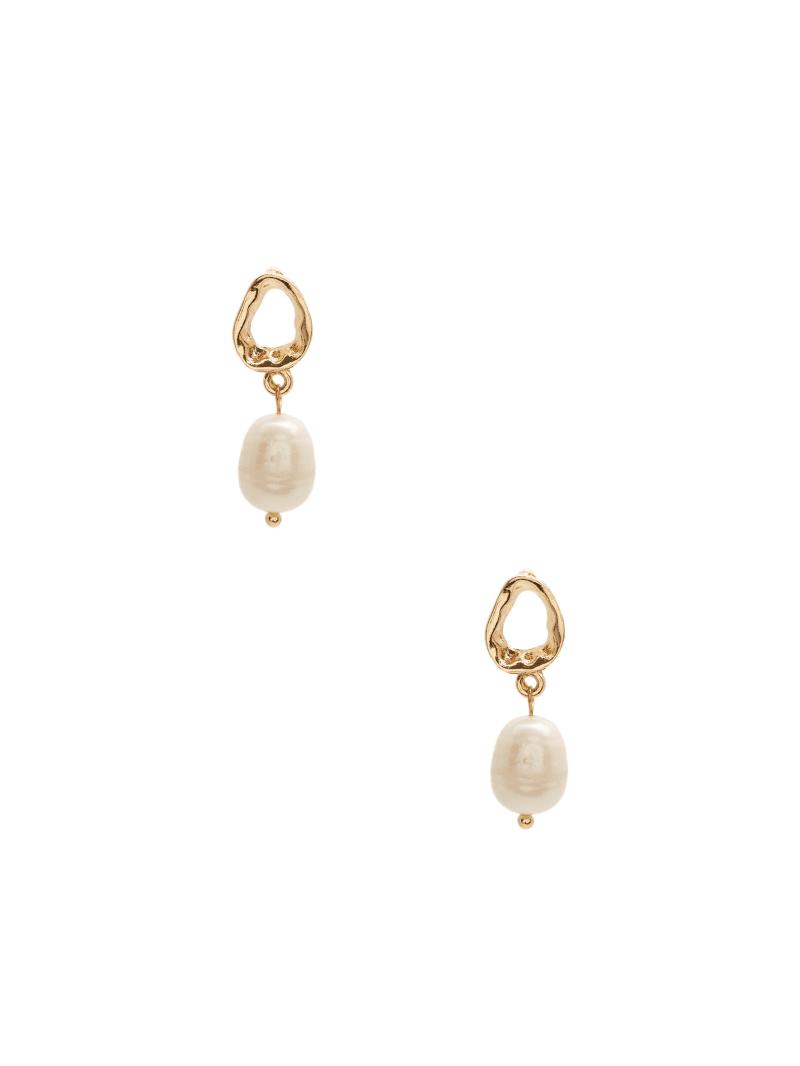 Gold-Tone Shell Earrings