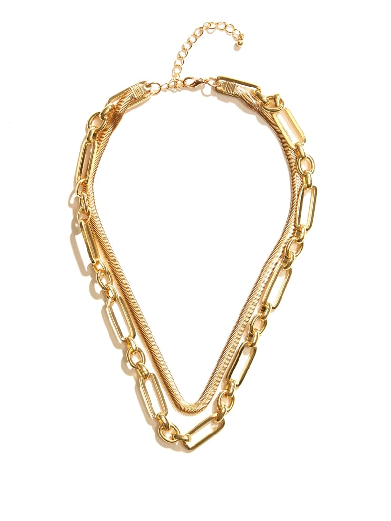 Gold-Tone Snake Chain Layered Necklace