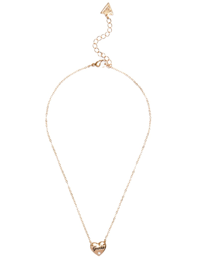 Gold-Tone Dainty Heart Charm Necklace