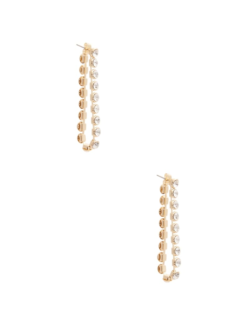 Rhinestone Loop Earring