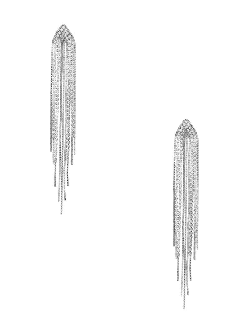 Rhinestone Fringe Linear Earrings