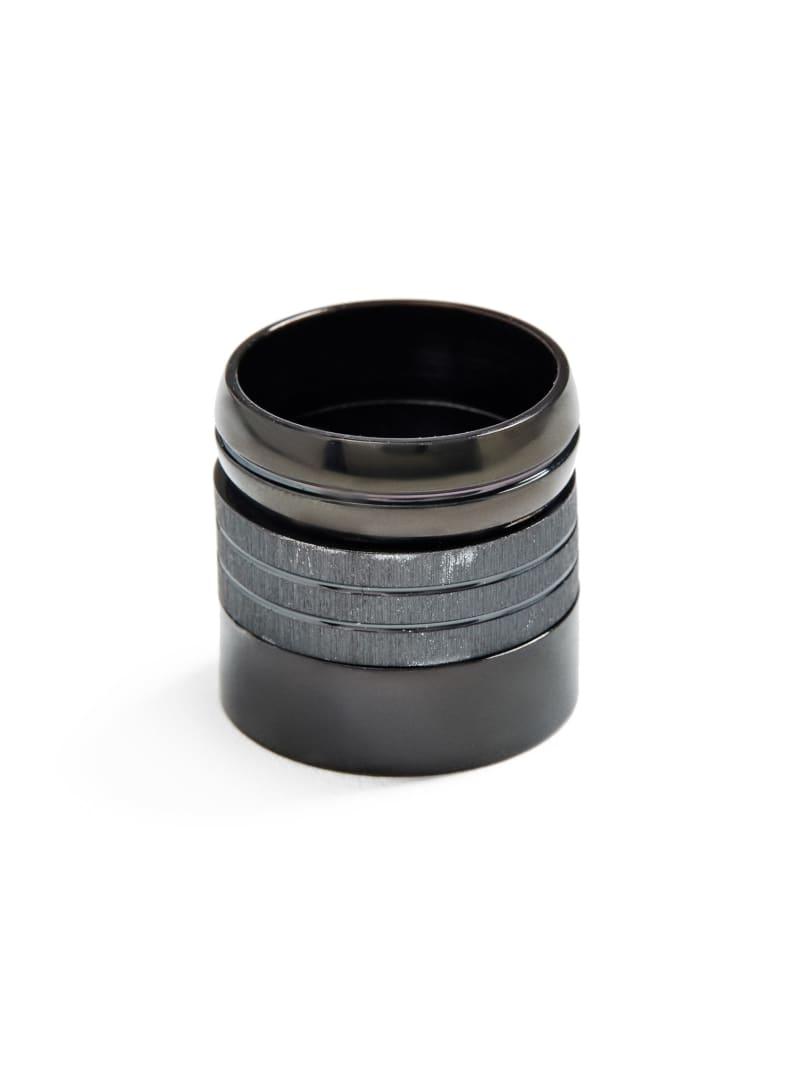 Scott Black Ring Set