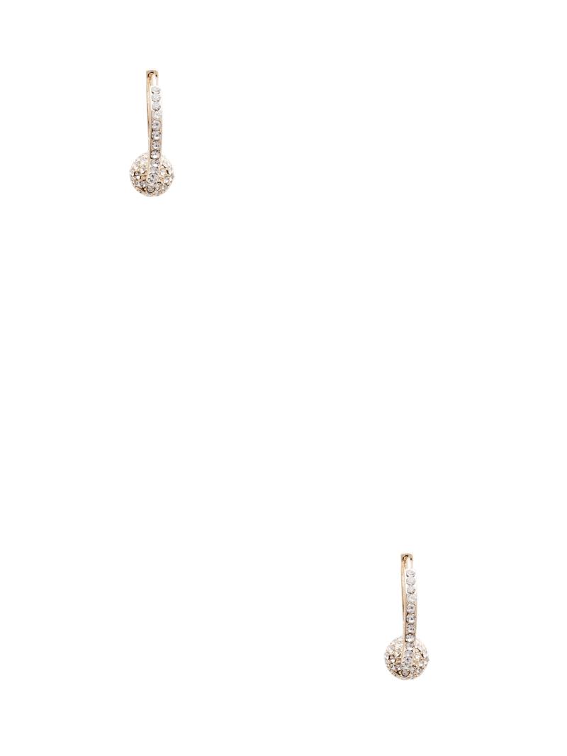 Gold-Tone Fireball Hoop Earrings