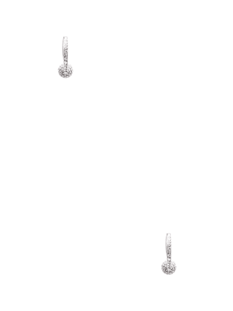 Silver-Tone Fireball Hoop Earrings