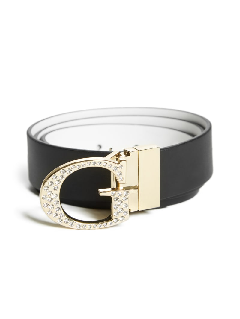 Reversible Rhinestone G-Buckle Belt