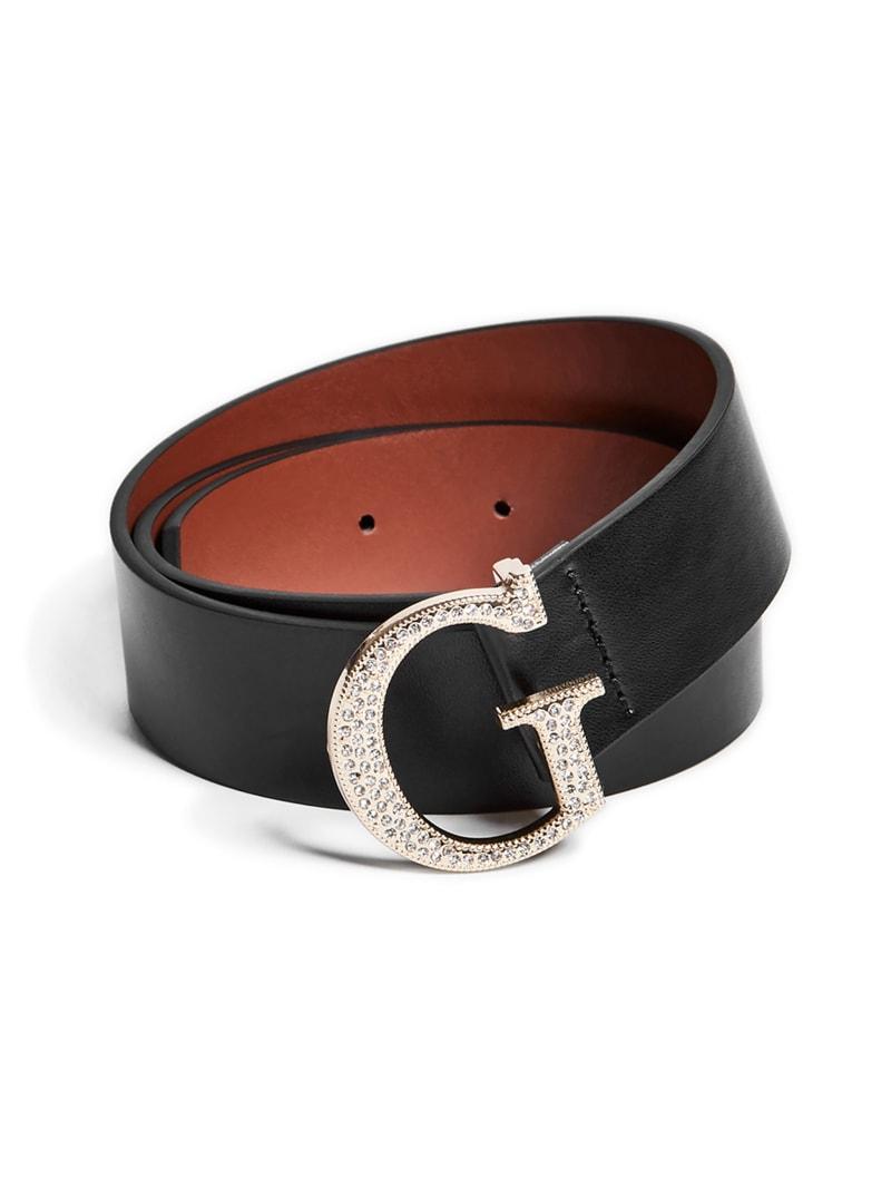 GUESS BLUEBELLE Zweiseitig Damengürtel Braun Schwarz Reversible Women Belt