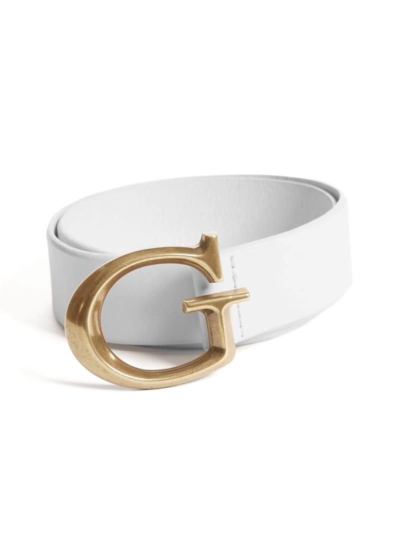 Jackie G Leather Logo Belt