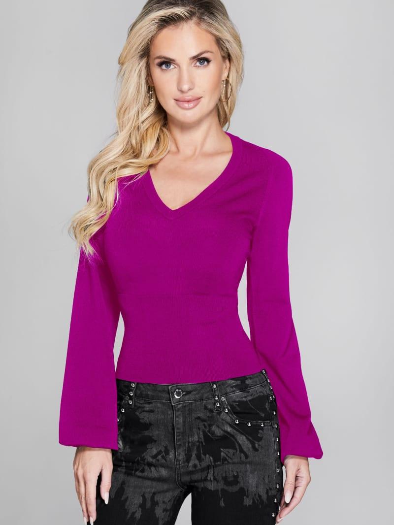 Ambra Open-Back Knit Sweater
