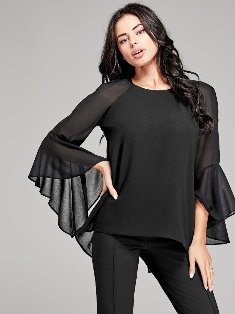 Long-Sleeve Flared Top