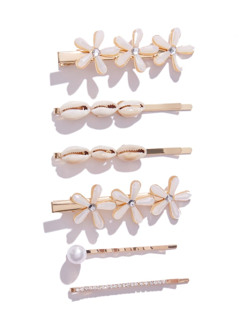 Shell And Pearl Hair Clip Set