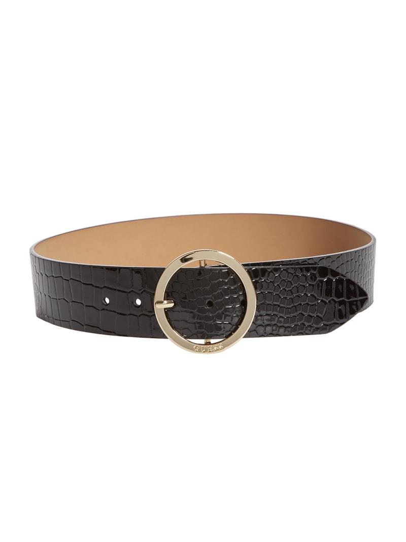Croc Round Buckle Belt