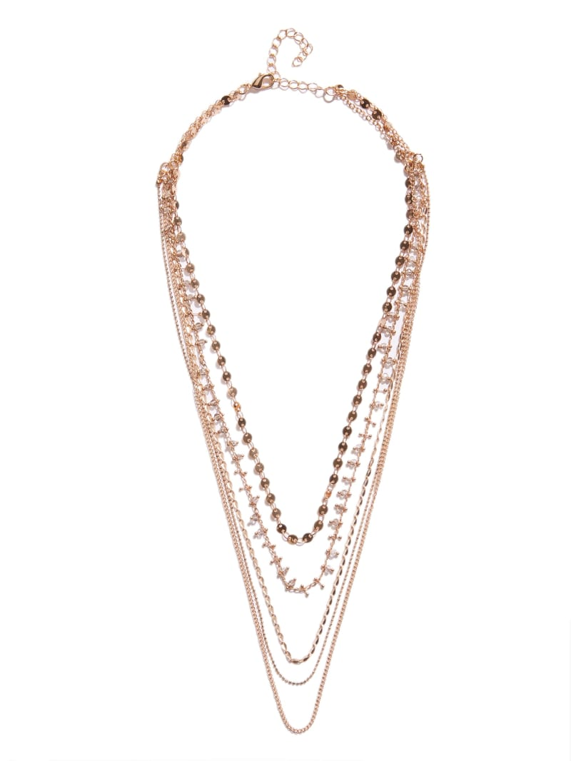 Gold-Tone Dainty Layered Necklace