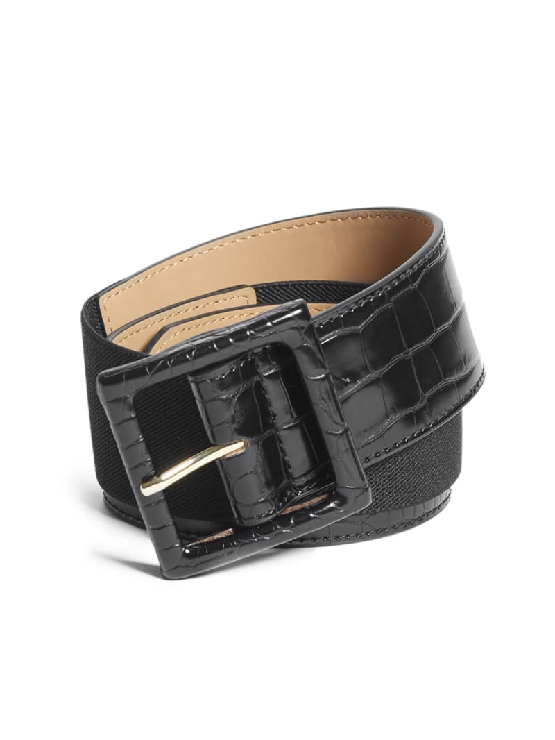 Faux-Crocodile Waist Belt