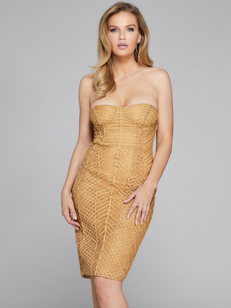 Axel Embellished Strapless Dress