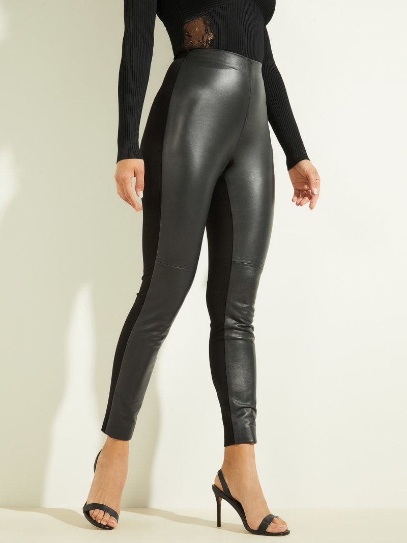 Coy High-Rise Leather Legging
