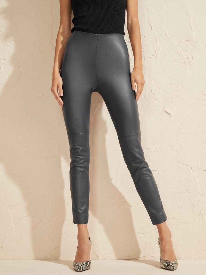 Coy High-Rise Leather Legging