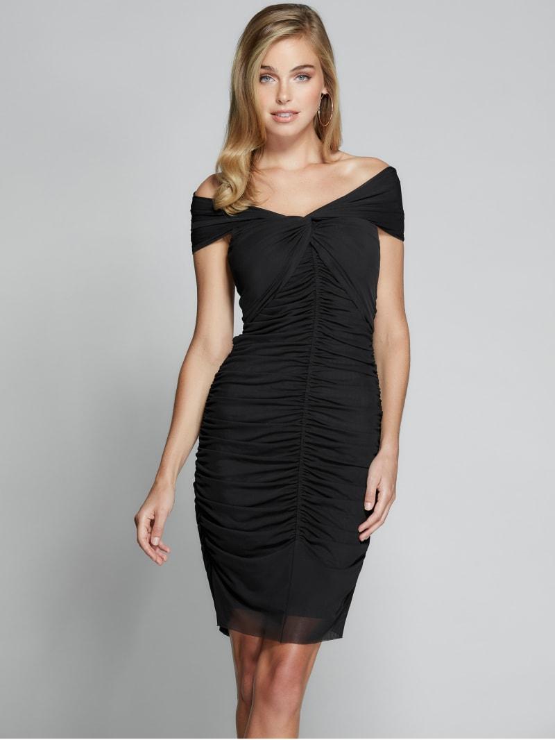 Nadine Off-Shoulder Mesh Dress
