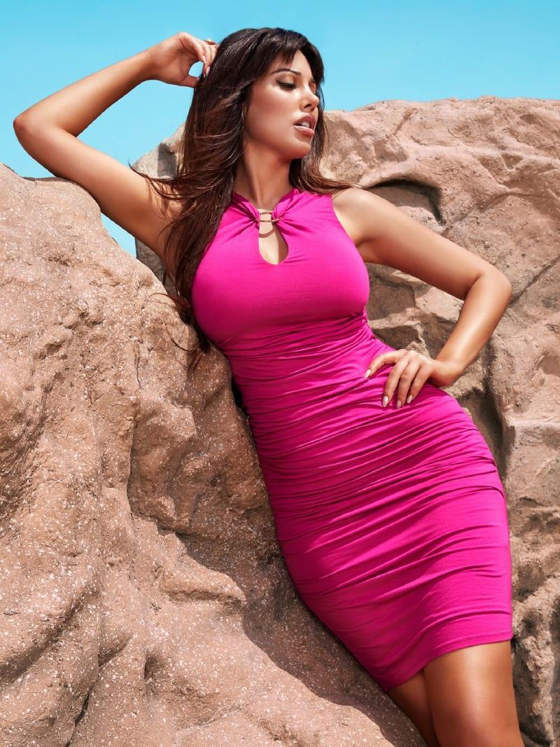 Moriah O-Ring Ruched Dress