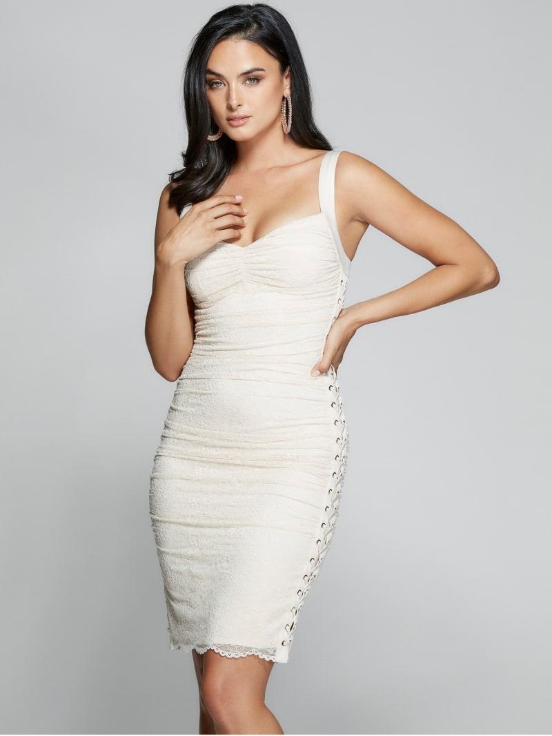 Nord Lace-Up Lace Dress
