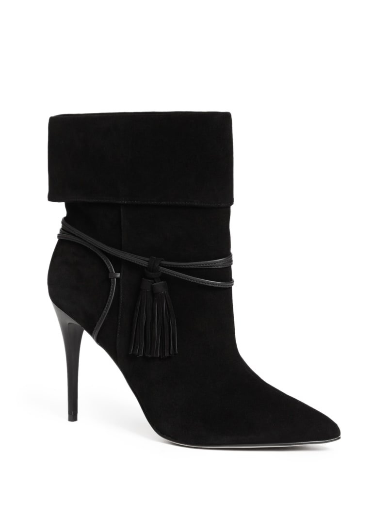 Fringe with Benefits Suede Cuffed Bootie