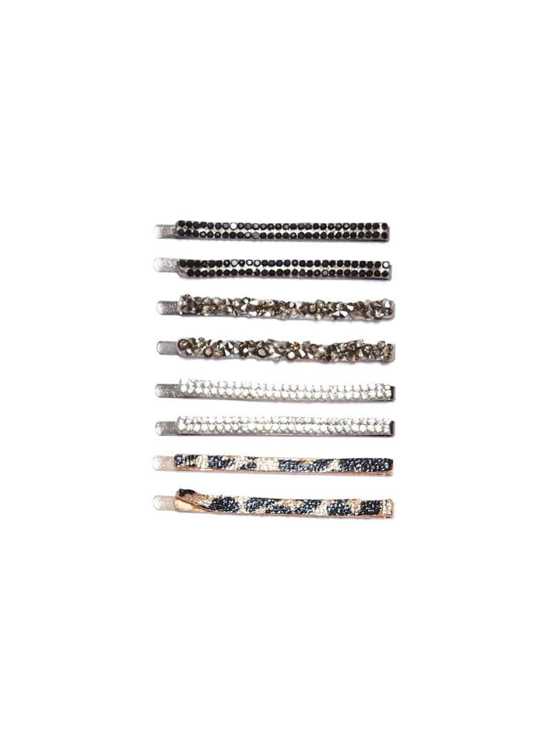 Leopard And Rock Crystal Hair Pin Set