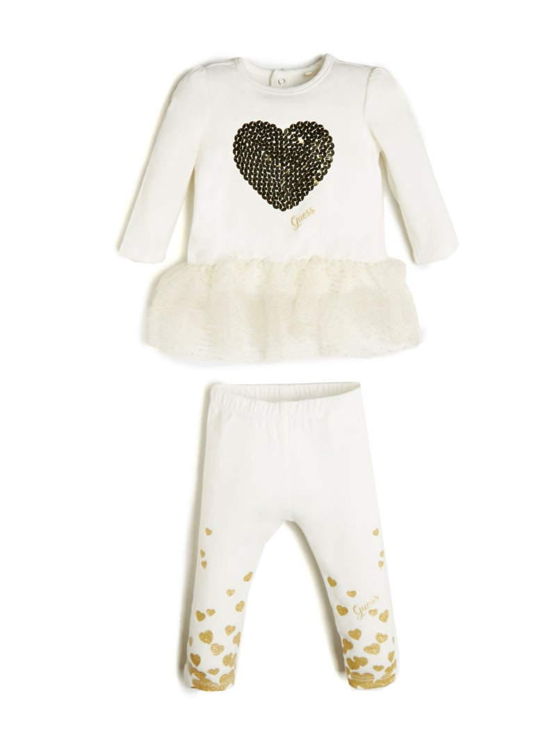 Ruffled Trim Shirt And Pants Set (0-24M)