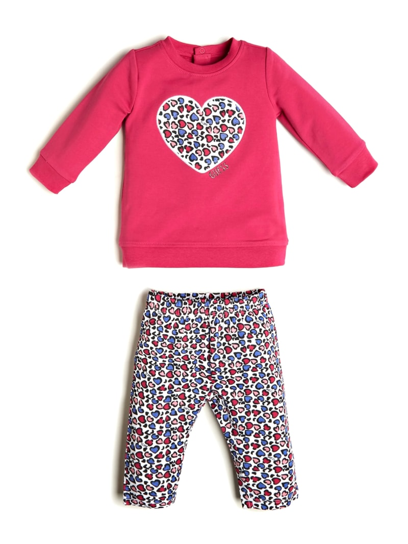 Leopard Heart Pullover and Leggings Set (0-24M)