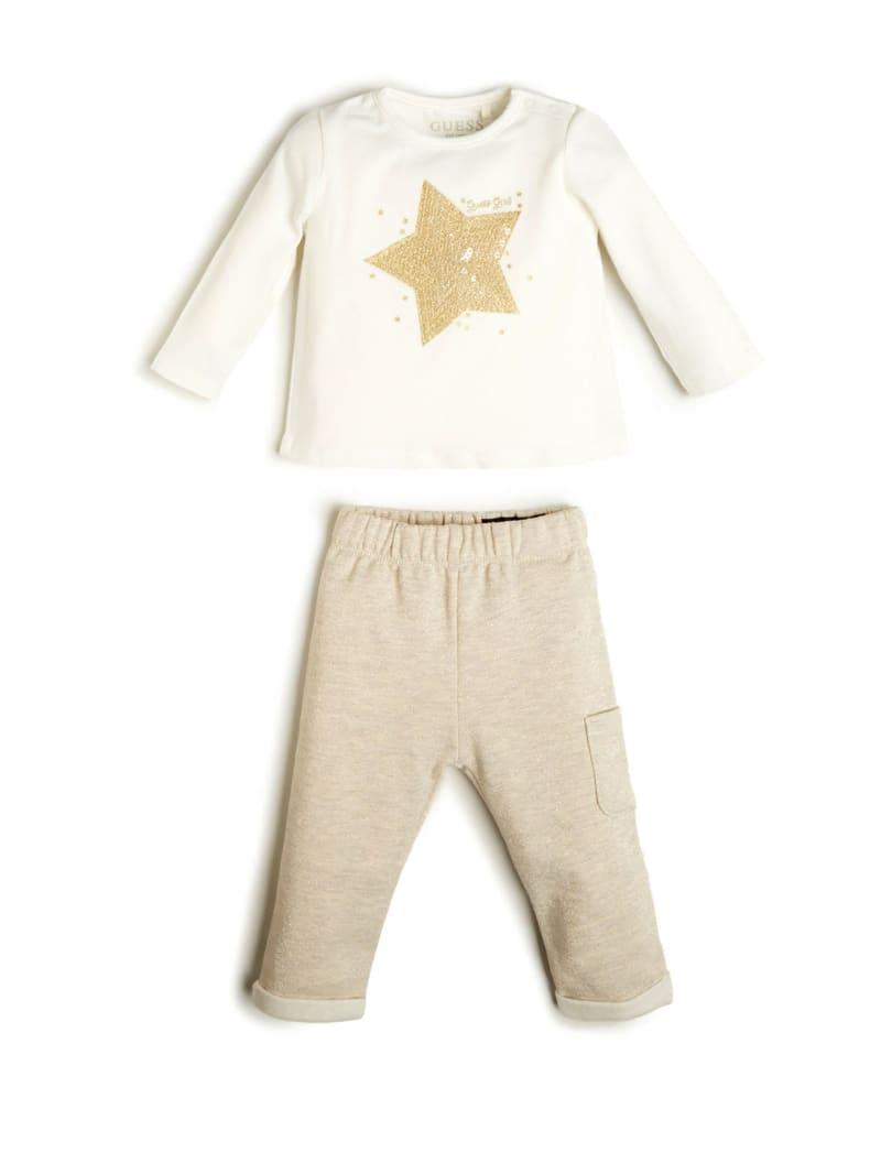 Embroidered Star Shirt And Pants Set (0-24M)