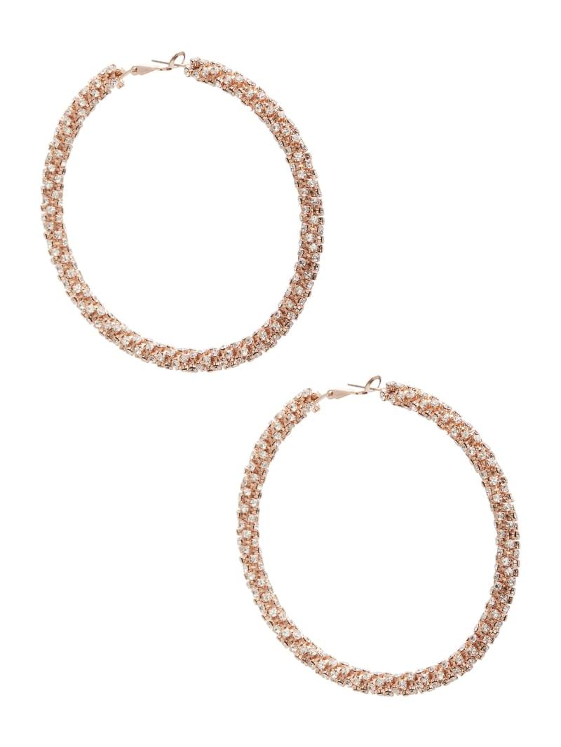 Glitzy Hoop Earrings