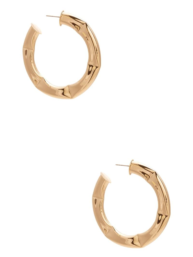 Gold-Tone Bamboo Hoop Earrings