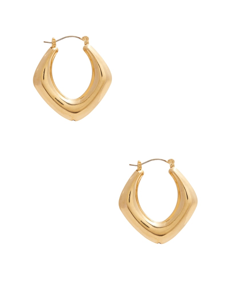 Gold-Tone Thick Oval Hoop Earrings