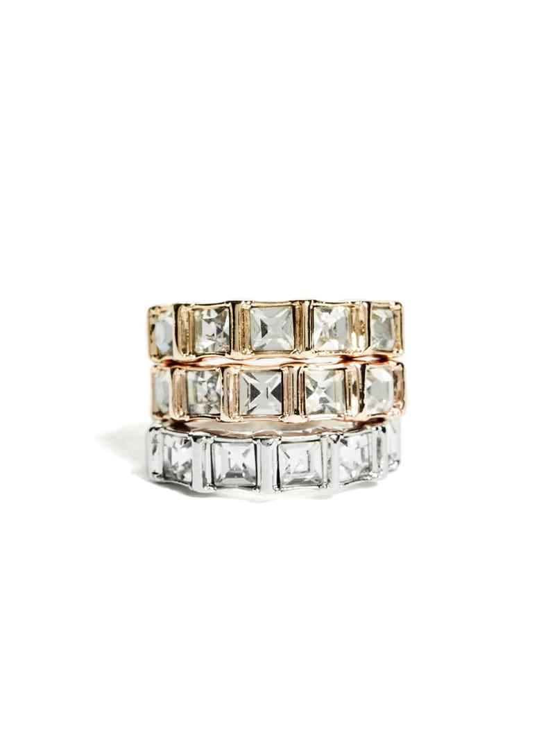 Baguette Stone Ring Set