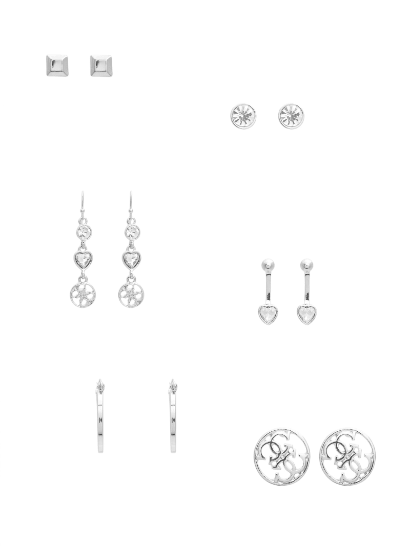 Kandence Silver-Tone Stud Earrings Set