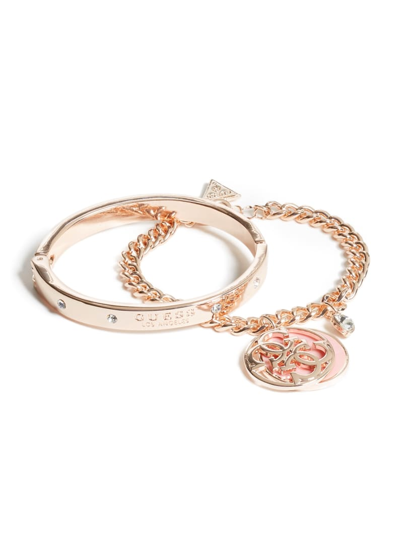 Cadence Rose-Gold Tone Logo Bracelet Set