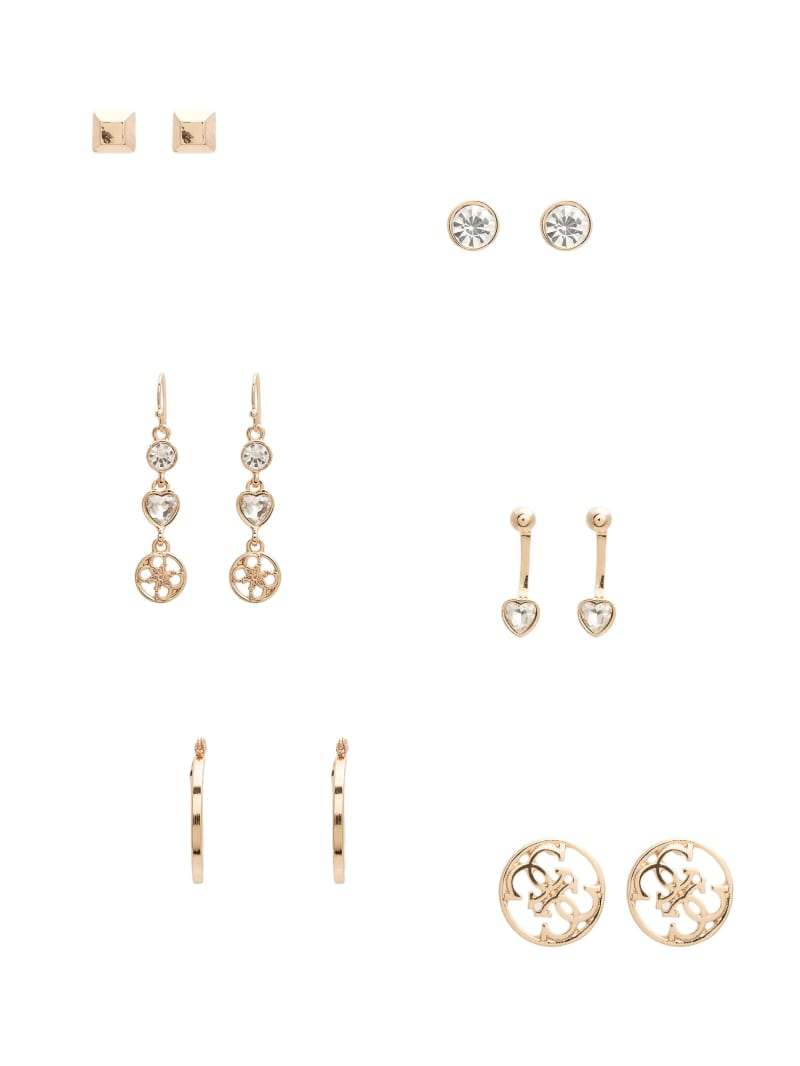 Kandence Gold-Tone Stud Earrings Set