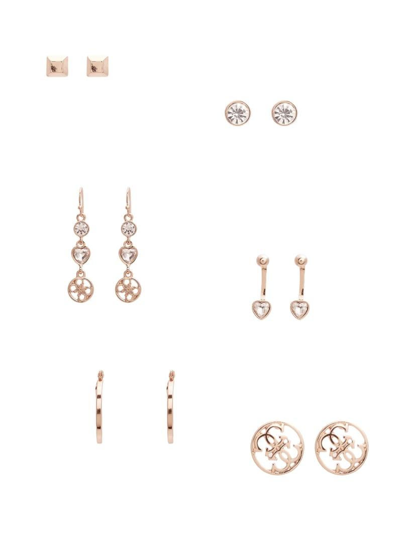 Kandence Rose Gold-Tone Stud Earrings Set