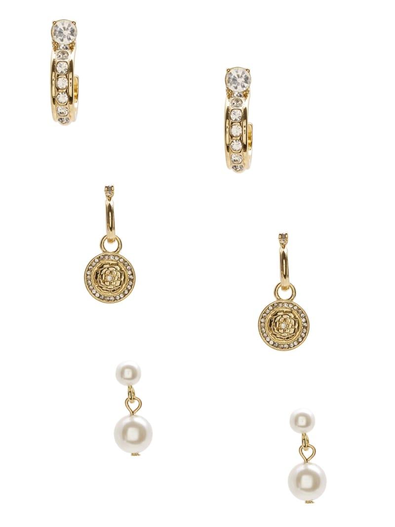 Gold-Tone Cubic Zirconia Earrings Set