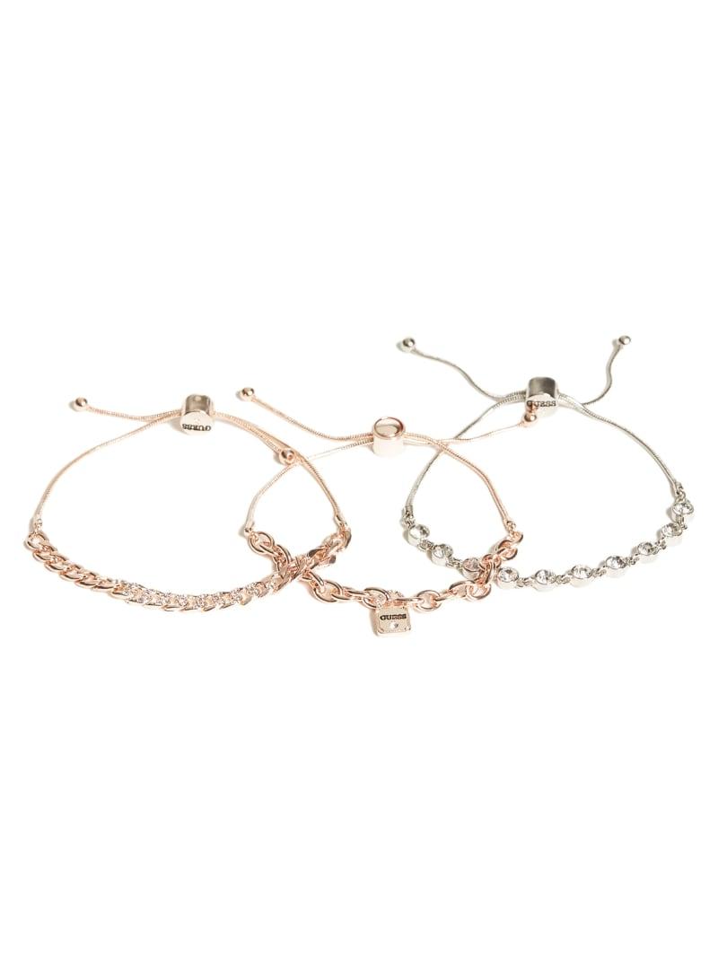 Multi-Tone Slider Bracelet Set