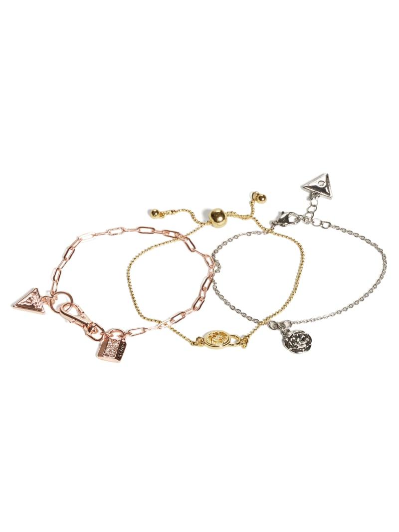 Multi-Tone Chain Bracelet Set