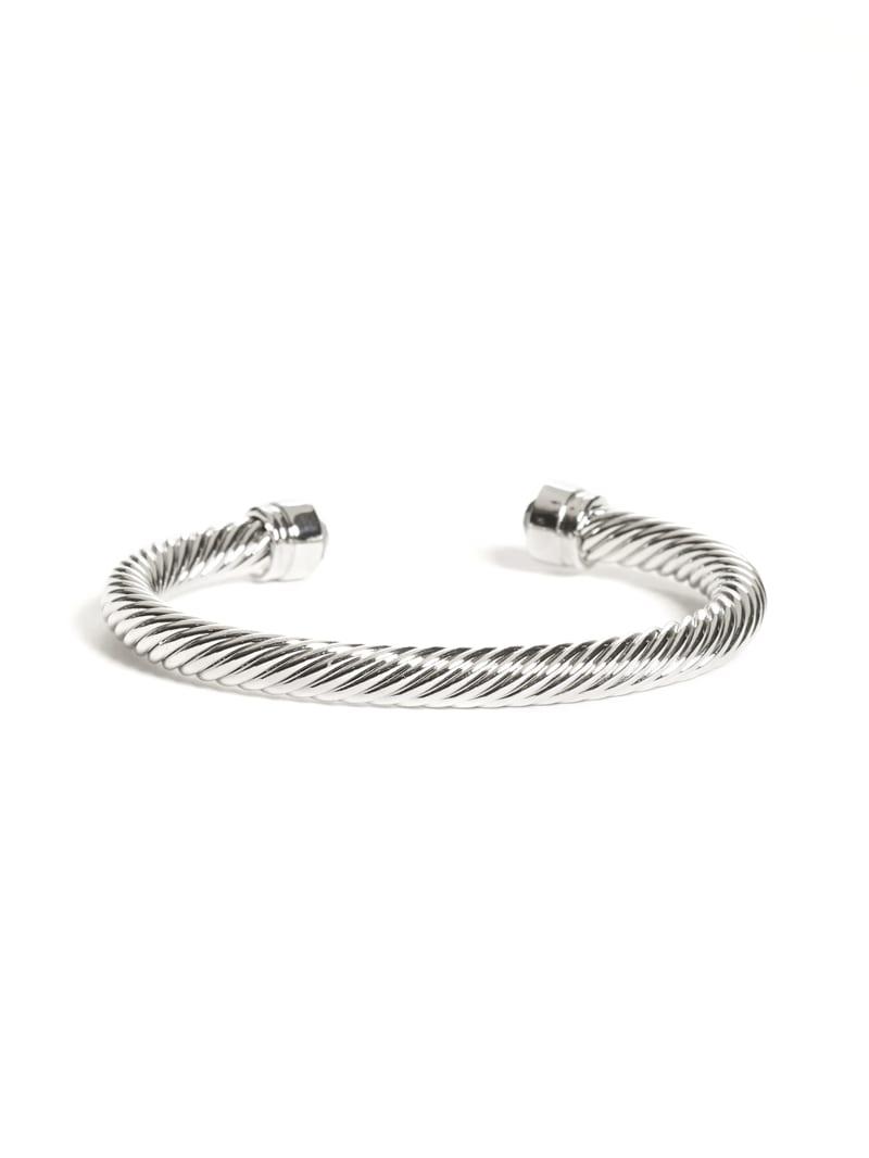 Silver-Tone Twisted Cuff