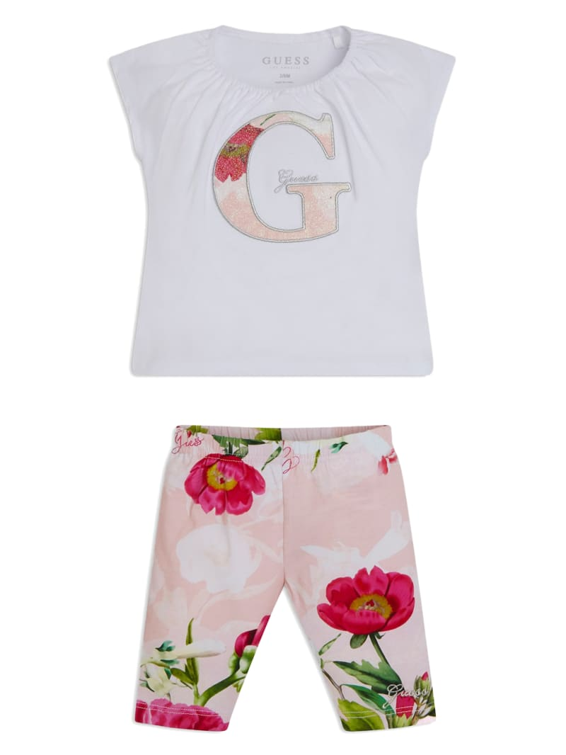 Floral Tee and Leggings Set (3-12M)