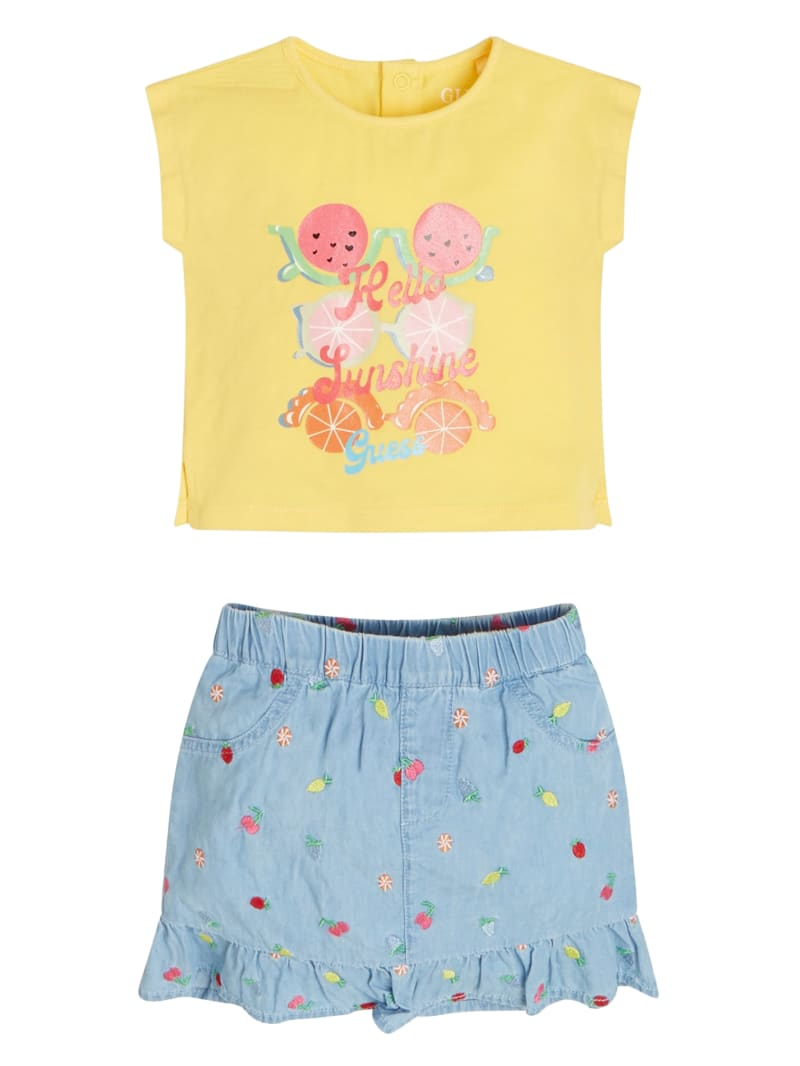 Hello Sunshine Tee and Skirt Set (3-12m)