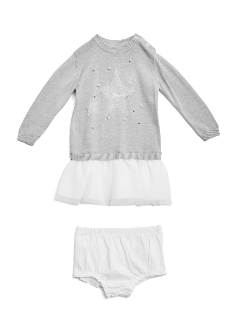 Embellished Sweater Two-Fer Dress (0-24M)