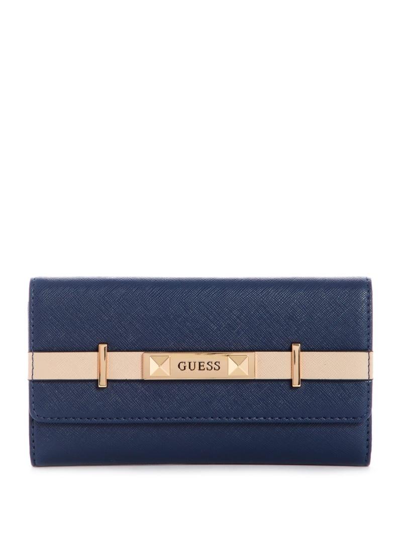 Reston Color-Block Slim Clutch Wallet
