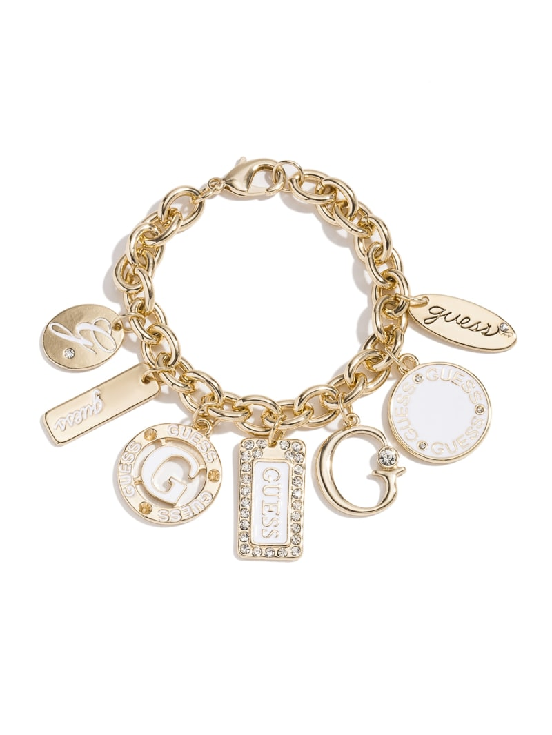 Gold-Tone Enamel Plates Bracelet