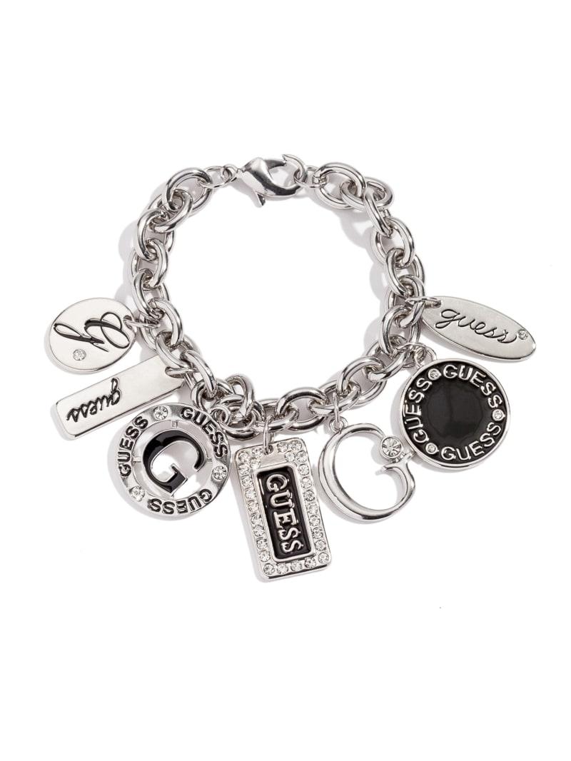 Silver-Tone Enamel Plates Bracelet