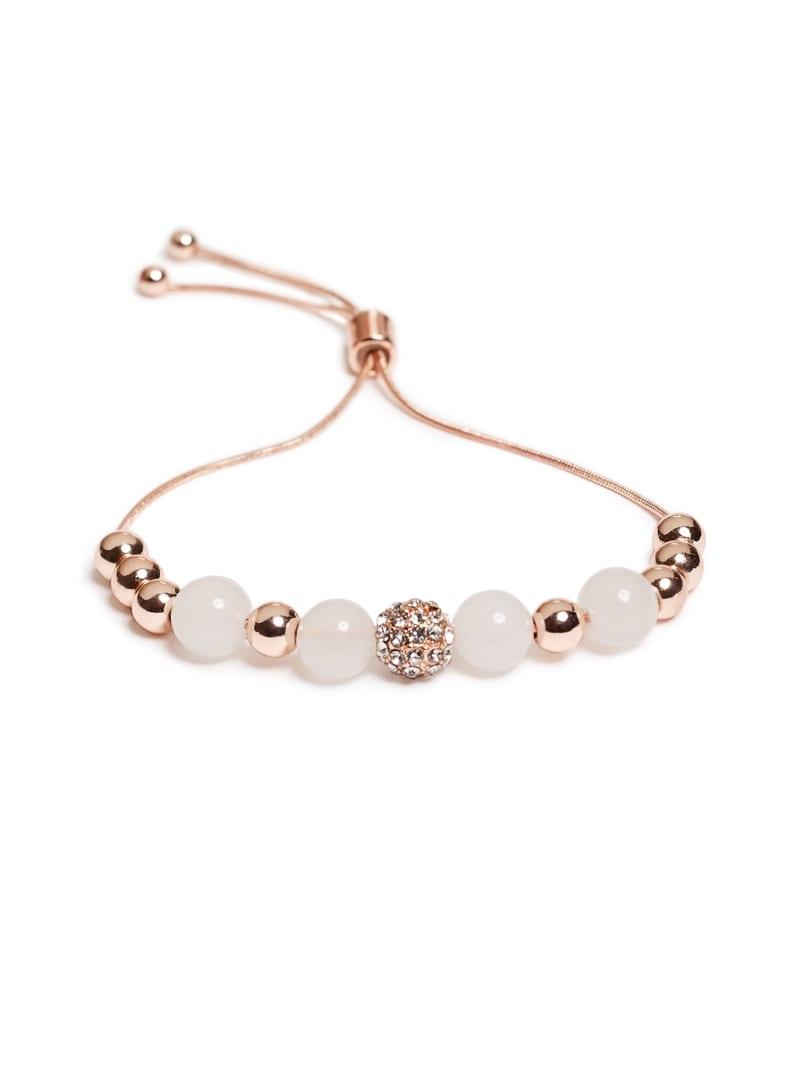 Stardust White Beaded Bracelet